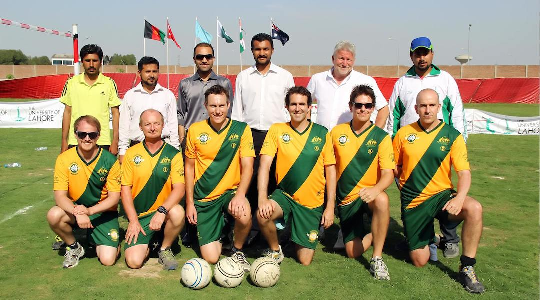 Apr 10-11, 2014 - Australia competes in Asian Fistball Championships in Lahore, Pakistan, finishing 4th of 4 teams and without a win