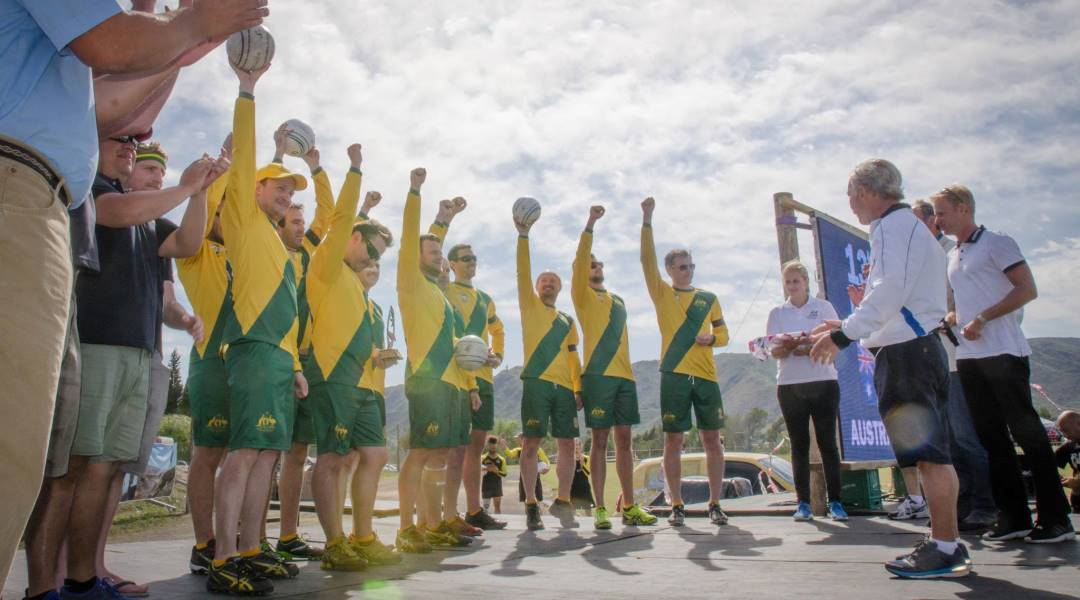 Nov 14-21, 2015 - Australia competes in Men's World Fistball Championships in Cordoba, Argentina, finishing 13th of 14 teams and with 3 wins (all against South Africa)
